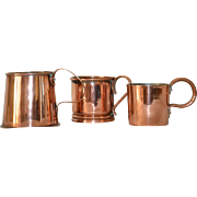 Antique Copper Mugs from the 19th Century