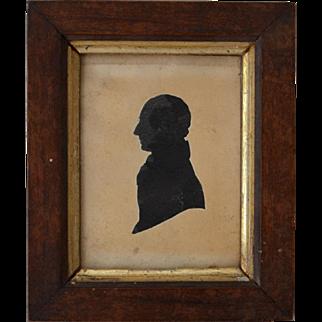 Antique Georgian Silhouette Portrait by E. Whittle