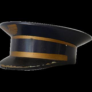 Vintage Pilot Captain Trinket Box
