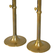 Antique Brass Candlesticks with ejector feature