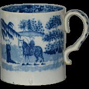 Antique Pearlware Zebra Child's Mug