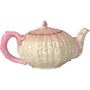 Belleek Black Mark Tridacna Teapot
