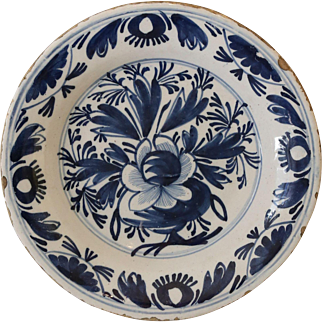 18thC English Delft Plate