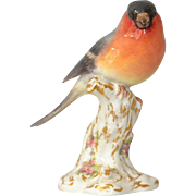 Royal Worcester Bullfinch Porcelain Bird 2662