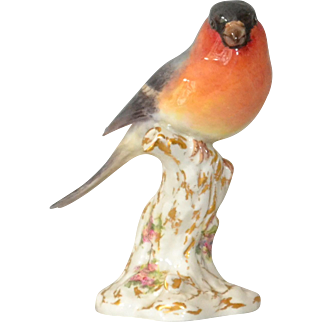 Royal Worcester Bullfinch Porcelain Bird 2662