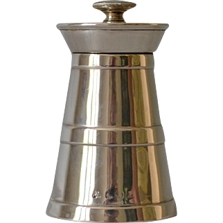 Antique Sterling Pepper Mill by J.M. Banks of Birmingham