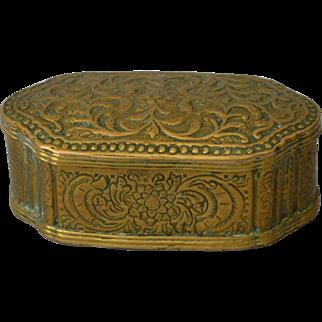 18thC Brass Tobacco Box