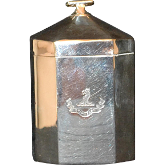 Antique Sterling Tea Caddy from Edwardian England