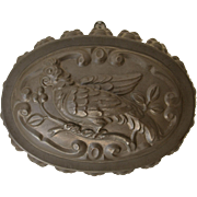 Antique Tole Tin Mold with Parrot Decoration