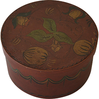 Antique Decorated Pantry Box