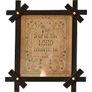 Antique Biblical Proverb in Victorian Frame