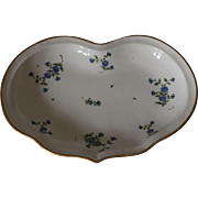 Antique Porcelain Heart Shaped Serving Dish with  Meissen Mark