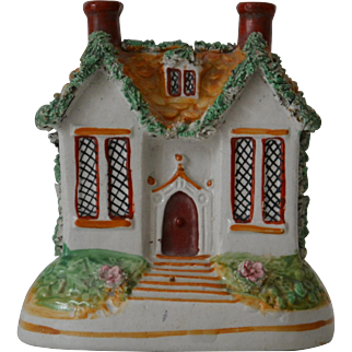 Victorian Staffordshire House Bank Money Box