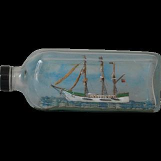 Vintage Model Sailing Ship in a Bottle