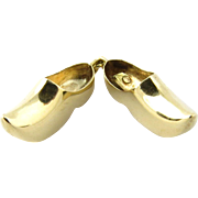 Vintage 14 Karat Yellow Gold Dutch Wooden Clogs Charm