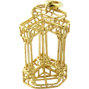 Vintage 18 Karat Yellow Gold Roman Forum Columns Charm