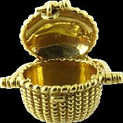 Vintage 18 Karat Yellow Gold Nantucket Basket Charm