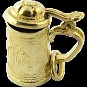 Vintage 14 Karat Yellow Gold German Beer Stein Charm