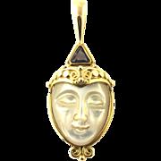 Vintage 18 Karat Yellow Gold Goddess Pendant