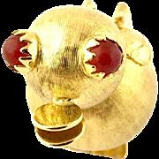 Vintage 18 Karat Yellow Gold Duck Charm