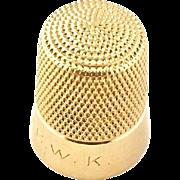 14 Karat Yellow Gold Thimble