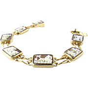Vintage 14 Karat Yellow Gold Cameo Bracelet