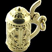 Vintage 18 Karat Yellow Gold Beer Stein Charm