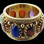 Vintage 14 Karat Yellow Gold Gemstone Ring Size 5.75