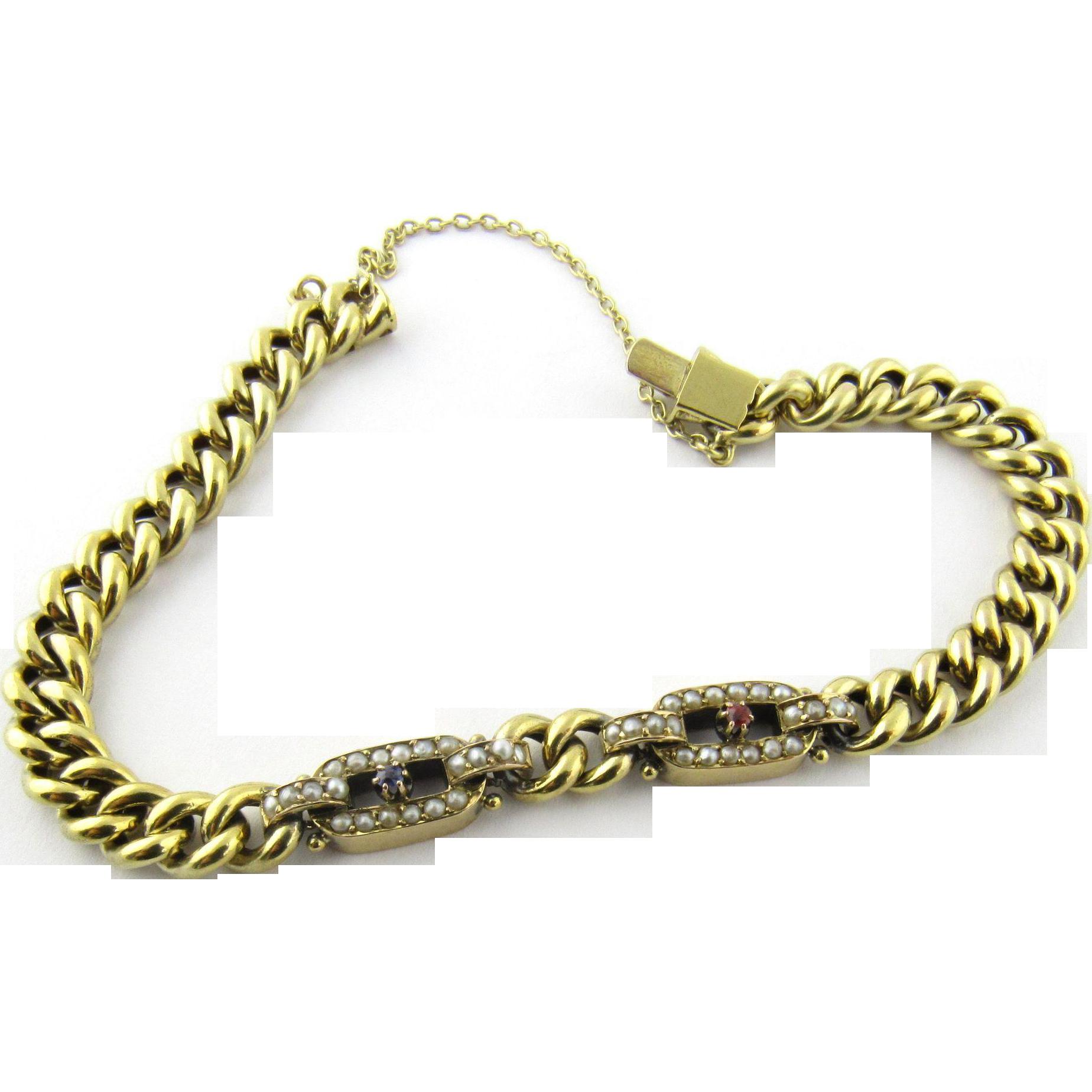vintage 14 karat yellow gold bracelet from ctgoldcustomers