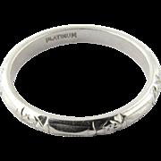 Vintage Platinum Wedding Band Size 4