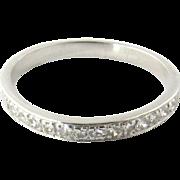 Vintage 10K White Gold Diamond Band Size 7