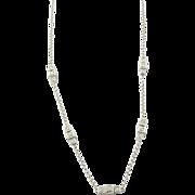 Vintage 18 Karat White Gold and Diamond Necklace