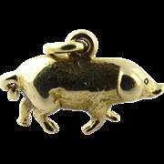 Vintage 14 Karat Yellow Gold Pig Charm