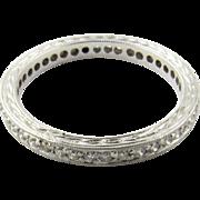 Vintage 18 Karat White Gold Diamond Wedding Band