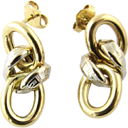 Vintage 18 Karat Yellow Gold Earrings