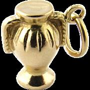 Vintage 18K Yellow Gold Trophy Charm