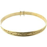 Antique Victorian 9K Yellow Gold Expandable Baby Bracelet