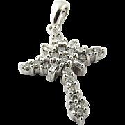 Vintage 14K White Gold and Diamond Pendant