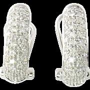 Vintage 14 Karat White Gold Diamond Earrings