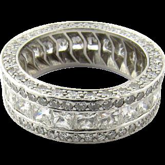 Vintage Platinum Diamond Band 5 cts Size 6.25