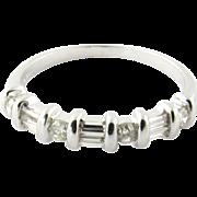 Vintage 14K White Gold Diamond Band, Ring size 8