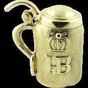 Vintage 14 Karat Yellow Gold Beer Stein Charm