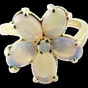 Vintage 14 Karat Yellow Gold Opal Ring Size 4.5