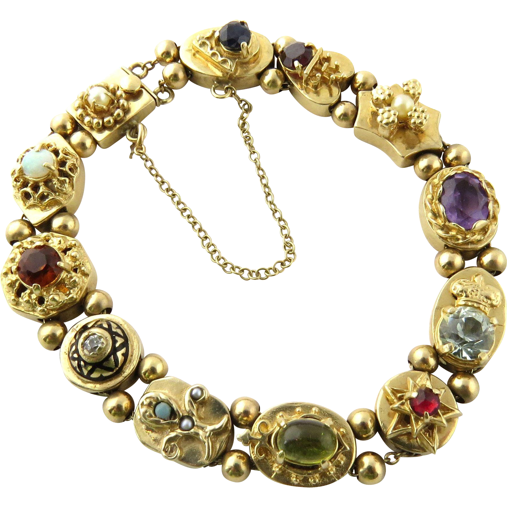 Permalink to Yellow Gold Charm Bracelet