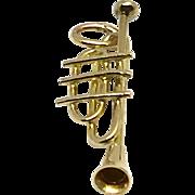Vintage 14 Karat Yellow Gold Trumpet Charm