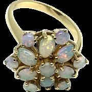 Vintage 9 Karat Yellow Gold Opal Ring Size 7.5