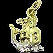 Vintage 14 Karat Yellow Gold Triton Charm