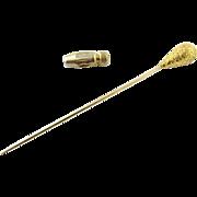 Vintage 14 Karat Yellow Gold Hat Pin