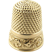 Vintage 14K Yellow Gold Thimble