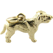 Vintage 14K Yellow Gold Lab Dog Charm